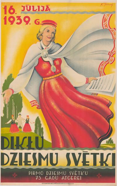 Dikļu Dziesmu svētki. Pirmo Dziesmu svētku 75 gadu atcerei. 1939.g. 16.jūlijā