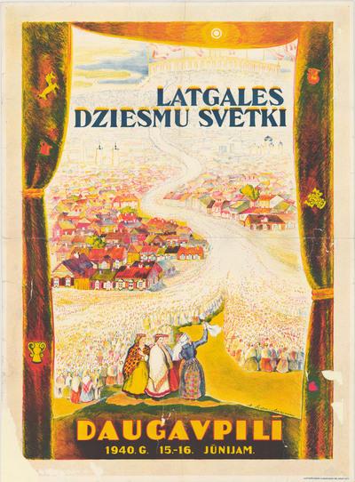Latgales Dziesmu svētki Daugavpilī 1940.g. 15.-16.jūnijam