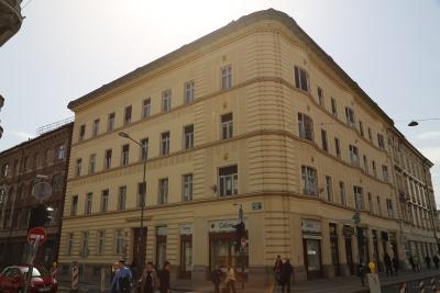 Hribar House, Ljubljana, view from Slovenska cesta