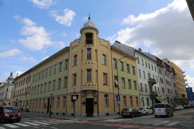 Krisper House, Ljubljana, View from Miklošičeva cesta