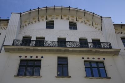 Čuden House, Ljubljana, Decorative metalwork on facade