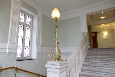 Hotel Union, Ljubljana, Lamp on stairs