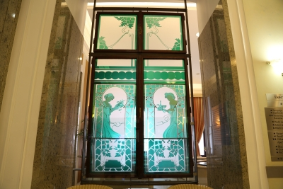 Hotel Union, Ljubljana, Stained glass window