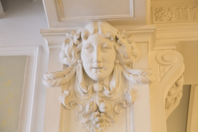 Hotel Union, Ljubljana, Detail of an ornate plaster