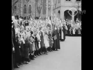 Bezoek H.M. de Koningin aan Maastricht op 1 maart 1919