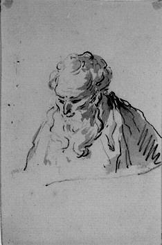 Porträtt av skäggig gubbe