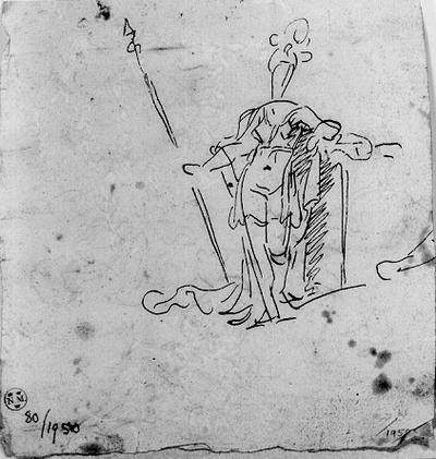 Kvinna med krona och stav