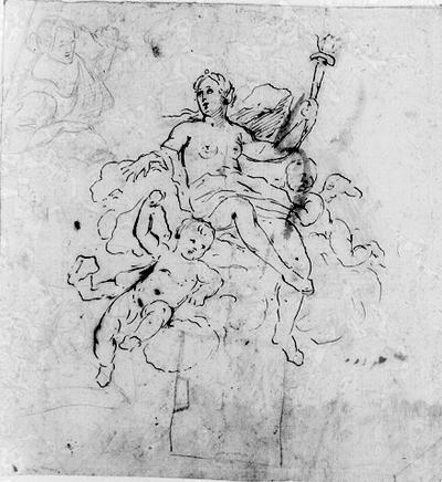 Skiss till allegorisk grupp i plafondmålning