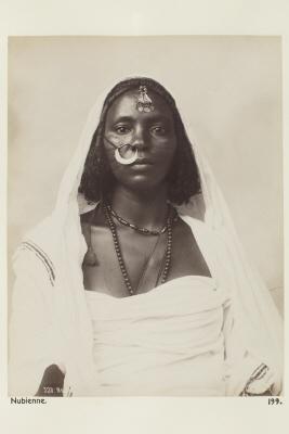 Fotografi. Porträtt av nubisk kvinna. Egypten.