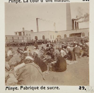 Fotografi. Sockerfabrik i Minya, Egypten.