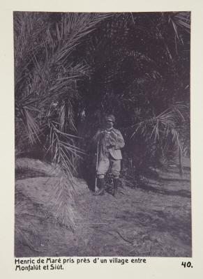 Fotografi. Henrik de Maré, fotograferad nära en by mellan Manfalut och Asyut, Egypten.