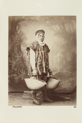 Fotografi. Porträtt av man. Algeriet.
