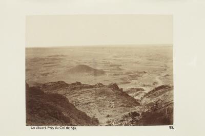 Fotografi. Öknen sedd från Col de Sfa. Algeriet.