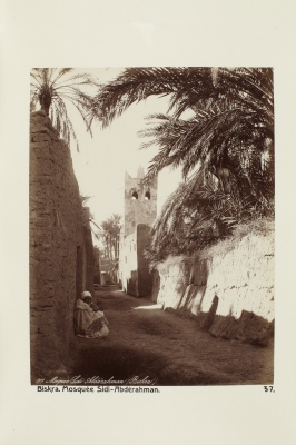 Fotografi. Sidi Abdérahman-moskén i Biskra, Algeriet.