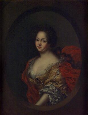 Maria Aurora von Königsmarck, 1660-1728 abbedissa i Qvedlingsburg. Oljemålning på duk.