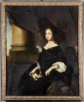 Hedvig Eleonora, oljemålning på duk. 1600-tal.