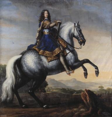 Konung Karl XI av Sverige, 1655-1697. Oljemålning på duk.