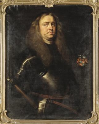 Riksviceamiralen greve Nils Nilsson Brahe, 1633-1699. Oljemålning på duk.
