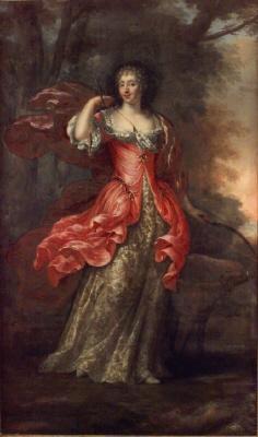 Katarina av Pfalz-Zweibrucken 1661-1720 g. 1696 m. överståthållaren greve Kristoffer Gyllenstierna av Eriksberg. Oljemålning på duk.
