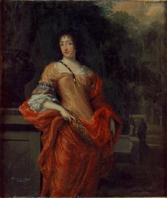 Katarina av Pfalz-Zweibrücken 1661-1720 g. 1696 m. överståthållare greve Kristoffer Gyllenstierna av Eriksberg. Oljemålning på duk.