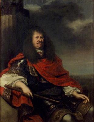 Fältmarsalken greve Karl Gustav Wrangel, 1613 - 1676. Oljemålning på duk.