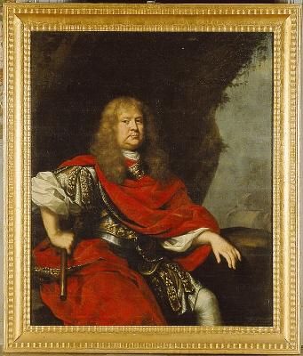 Viceamiralen Greve Nils Nilsson Brahe , 1633- 1699. Oljemålning på duk.