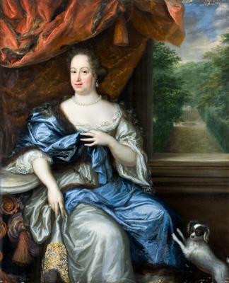 Grevinnan Margareta Juliana Wrangel  1642- 1701 , g. m. greve Nils Brahe. Oljemålning på duk.