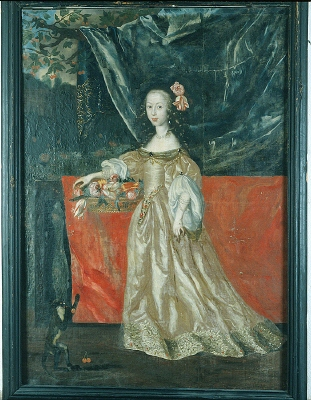Maria Elisabeth Stenbock, 1640-93, g.m. landshövdingen, greve Axel Lillie, som barn. Oljemålning på duk.