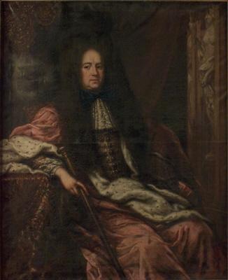 Johan Gabriel Stenbock , 1640-1705 , riksmarskalk och greve. Oljemålning på duk. Tillskriven Ehrensrtahl.