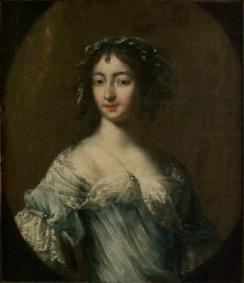 Anna Maria Ehrenstrahl , 1666-1729 , g.m. vice president Johan Wattrang.  Oljemålning på duk.