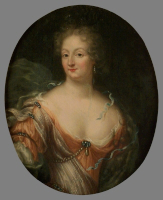 Amalia Wilhelmina von Köningsmarck , 1663-1740 , g.m. greve Karl Gustaf Lewehaupt. Oljemålning på duk.