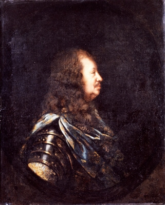 Karl Gustav Wrangel , 1613-76 , greve , fältmarskalk. Oljemålning på duk.