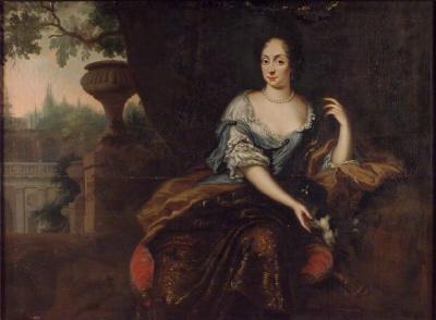 Eva Horn af Björneborg , 1653-1740 , g.m. generalen och ambassadören greve Nils Bielke. Oljemålning på duk.