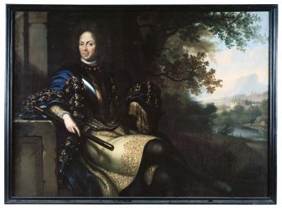 Nils Bielke , 1644-1716 , greve , general och ambassadör. Oljemålning på duk.