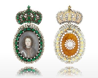 Miniatyrporträtt av kung Karl XI av Sverige (1655-1697) ca 1672-1675, tillskrivet Pierre Signac.