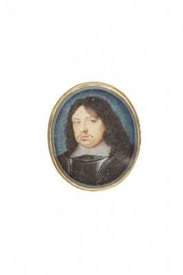 Miniatyrporträtt av konung Karl X Gustav av Sverige (1622-1660), ca 1650.