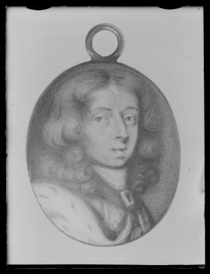 Miniatyrporträtt av konung Karl XI av Sverige (1655-1697), ca 1670.