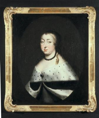 Porträtt av änkedrottning Hedvig Eleonora, tillskrivet David Klöcker Ehrenstral (1629-1698).
