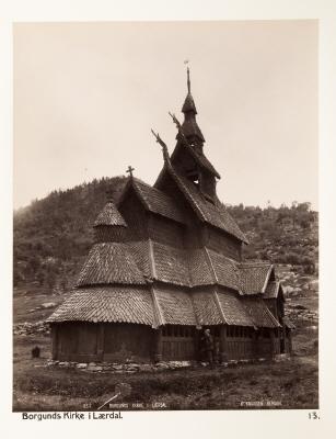Fotografi. Borgunds Kirke i Laerdal. Norge.