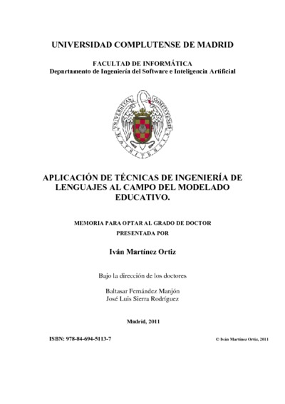 Aplicación de técnicas de ingeniería de lenguajes al campo del modelado educativo
