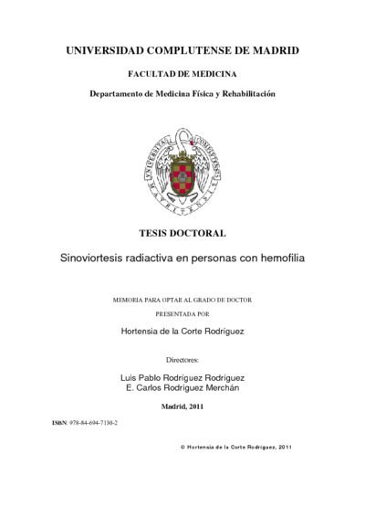 Sinoviortesis radiactiva en personas con hemofilia