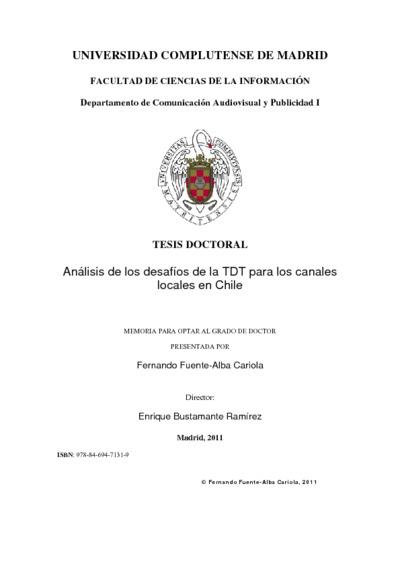 Análisis de los desafíos de la TDT para los canales locales en Chile