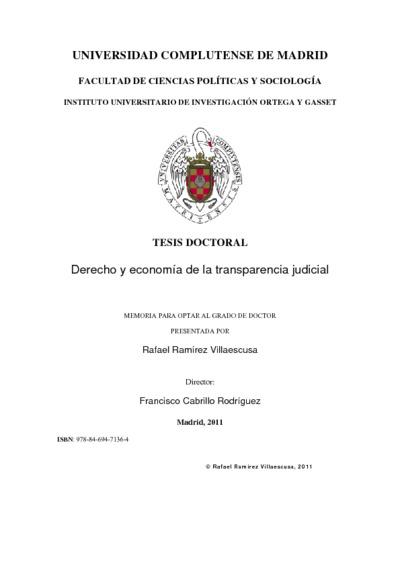 Derecho y economía de la transparencia judicial