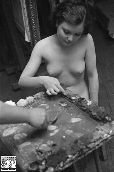 Modèle dans l'atelier de Moïse Kisling
