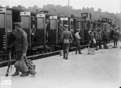 ROUEN - GUERRE - DEPART ARMEE ANGLAISE