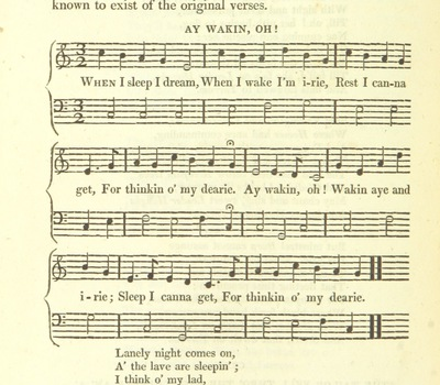 "Image from page 430 of Illustrations of the Lyric Poetry and Music of Scotland. Originally compiled to accompany the ""Scots' Musical Museum"" [of J. Johnson] and now published separately with additional notes and illustrations [and an introduction by D. Laing]"