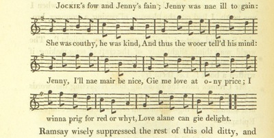 "Image from page 506 of Illustrations of the Lyric Poetry and Music of Scotland. Originally compiled to accompany the ""Scots' Musical Museum"" [of J. Johnson] and now published separately with additional notes and illustrations [and an introduction by D. Laing]"