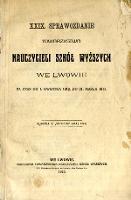 XXIX. Sprawozdanie Towarzystwa Nauczycieli Szkół Wyższych we Lwowie za czas od 1.kwietnia 1912 do 31. marca 1913