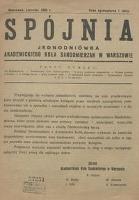 Spójnia, czerwiec 1925 r.