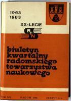 Biuletyn Kwartalny Radomskiego Towarzystwa Naukowego, 1982, T. 19, z. 3-4